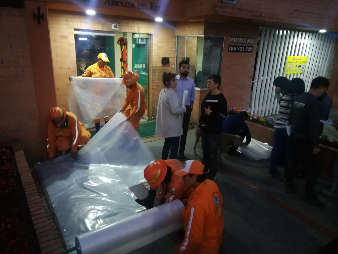 Alcaldía atiende emergencia en Escuela de Cadetes
