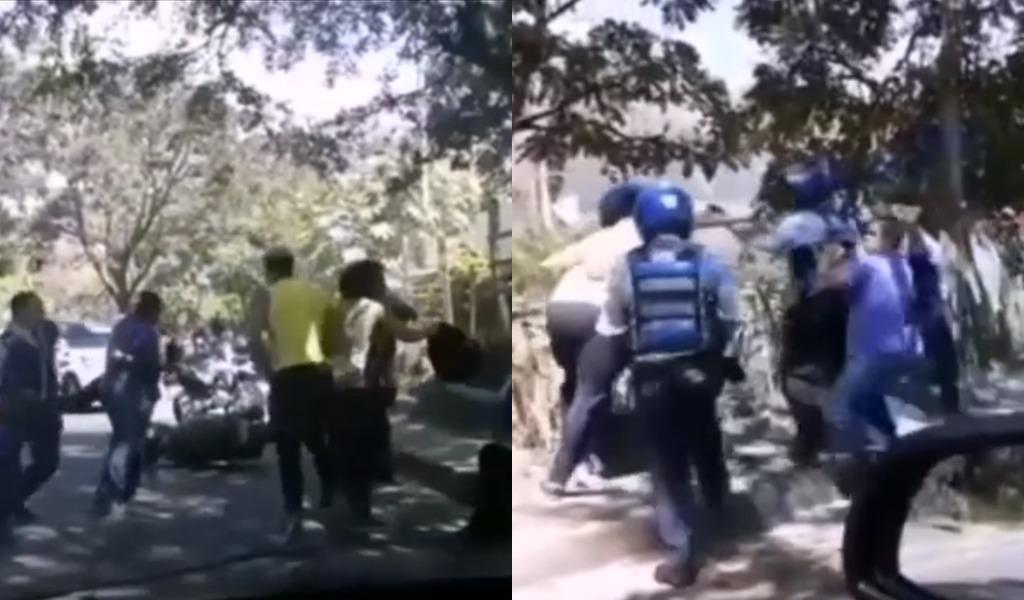 En agresión terminó operativo de tránsito en Bello