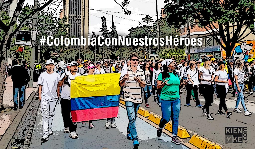 Colombia se unió en marcha contra los violentos