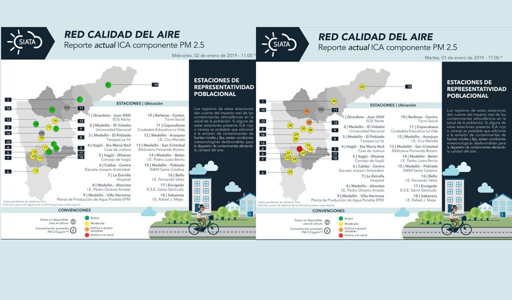 Pólvora amenaza la calidad del aire en Medellín