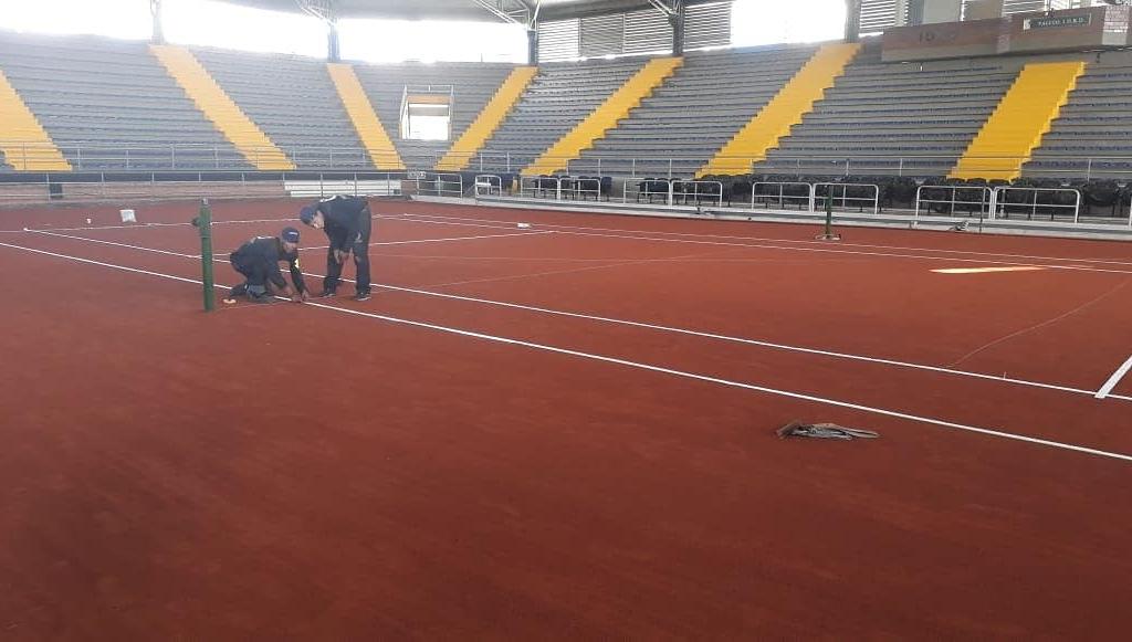 Así luce el Palacio de los Deportes para Copa Davis