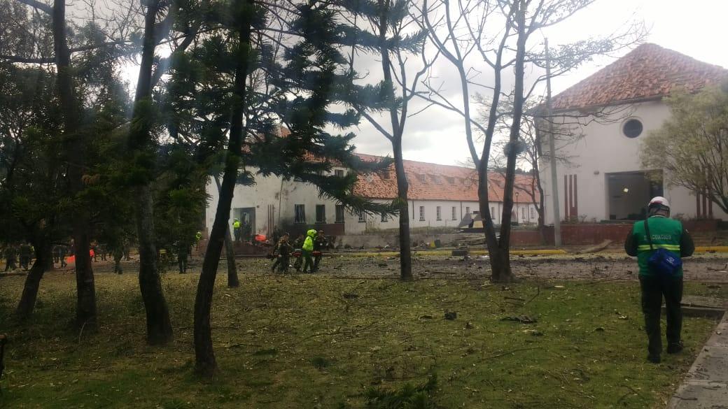 Lista de heridos en atentado en Bogotá