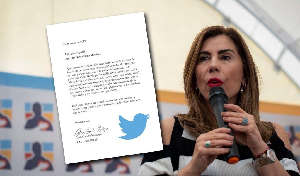 Disculpa y perdón vía Twitter por hashtag contra Vicky Dávila