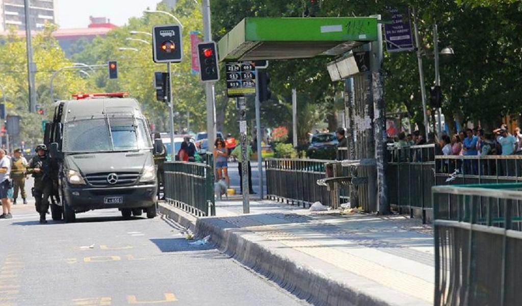 explisión en Santiago de Chile