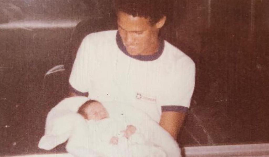 La última foto de Falcao con su papá