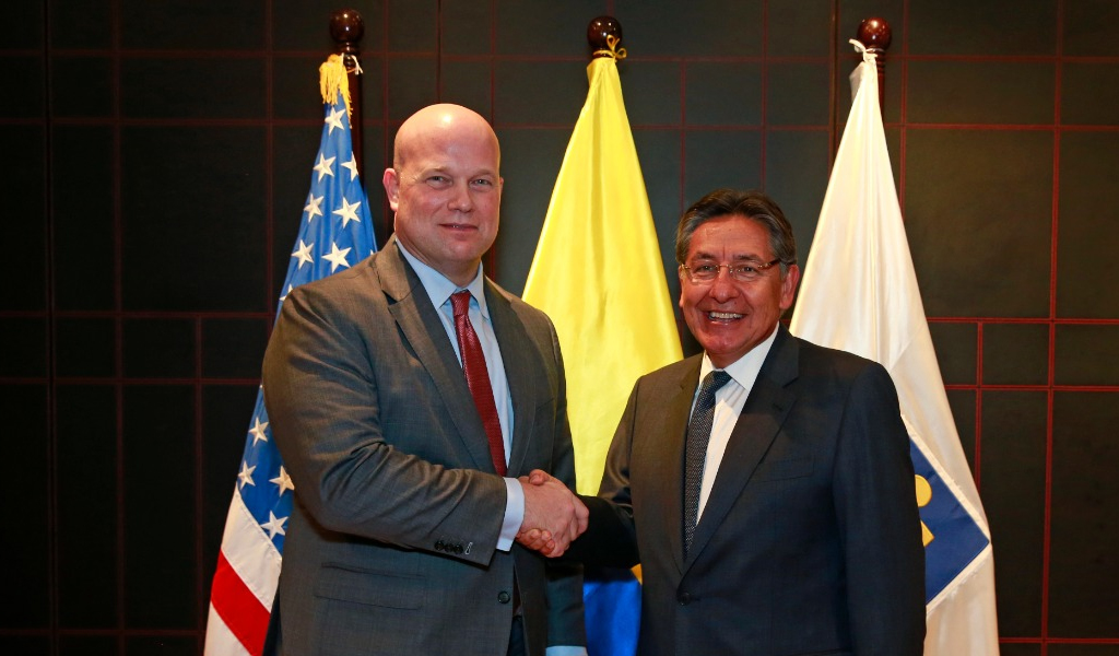 Fiscal de Estados Unidos visita Colombia