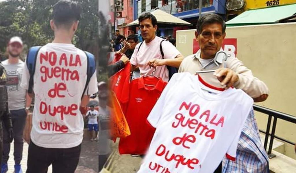 La camiseta que se hizo viral en Medellín