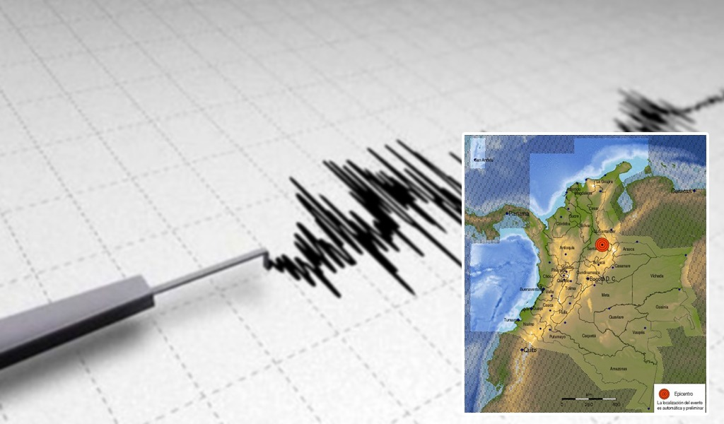 Fuerte temblor en Santander
