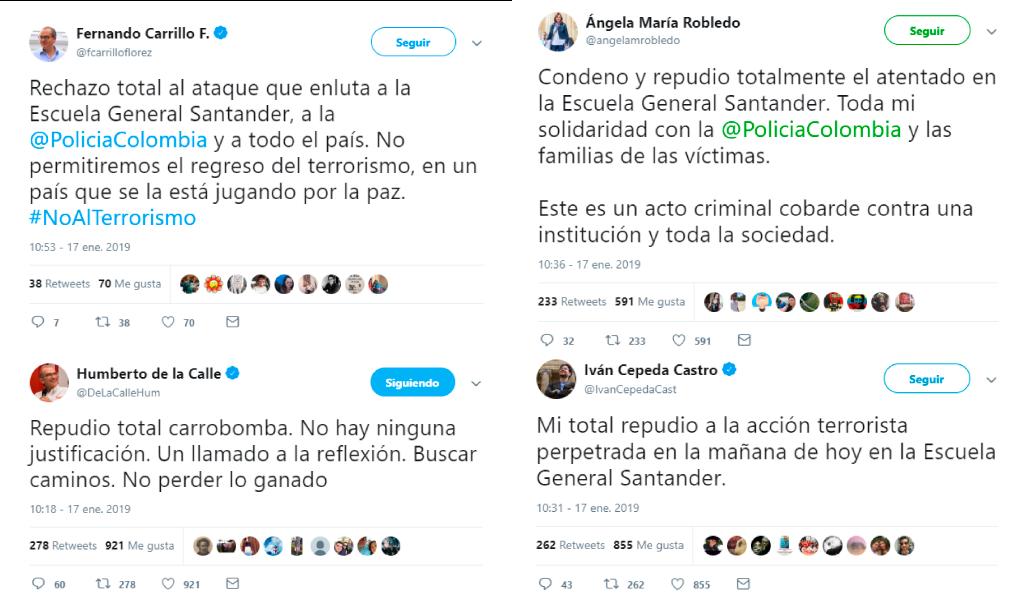 Reacciones por explosión en Escuela General Santander