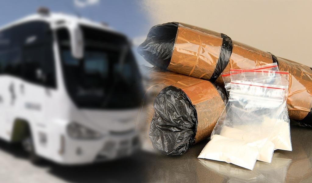 Incautan 160 kilos de coca en un bus de transportes especiales