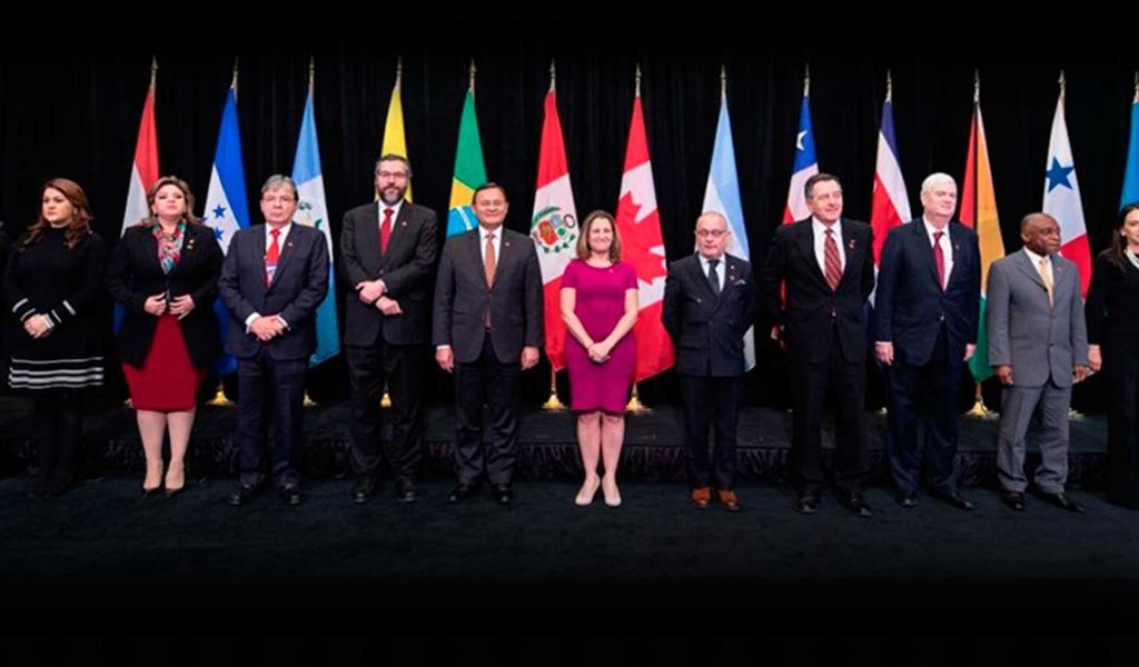 Grupo de Lima reitera apoyo a transición pacífica en Venezuela