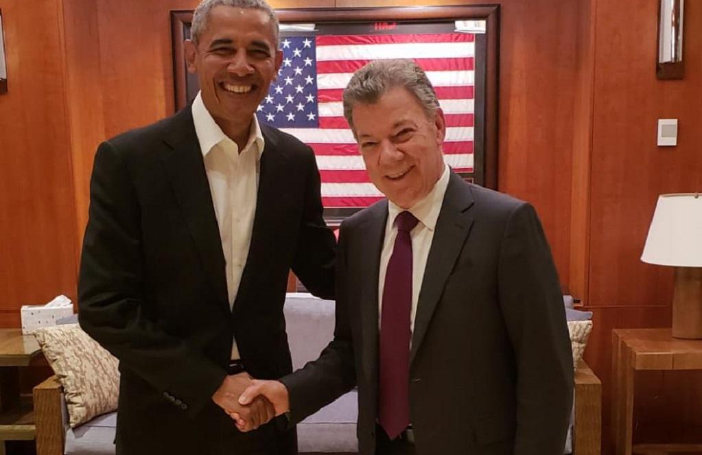 """Santos y Obama: La foto de dos """"viejos amigos"""""""
