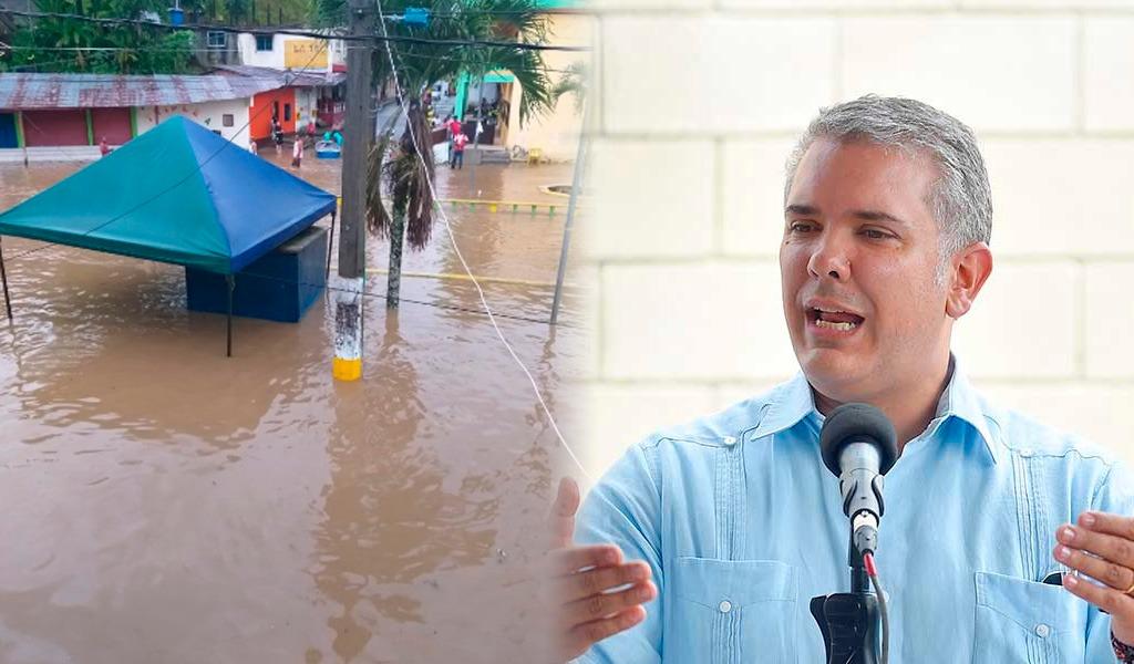 Varios criticaron a Duque por no asistir emergencia en Chocó