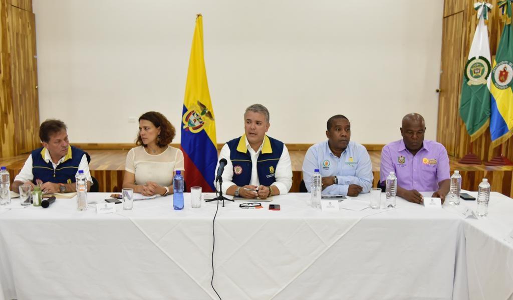 """""""Vinimos a buscar soluciones y atender"""": Duque en Chocó"""