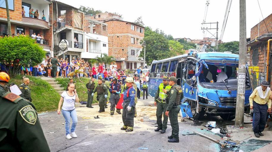 Grave accidente en Buenos Aires, Medellín