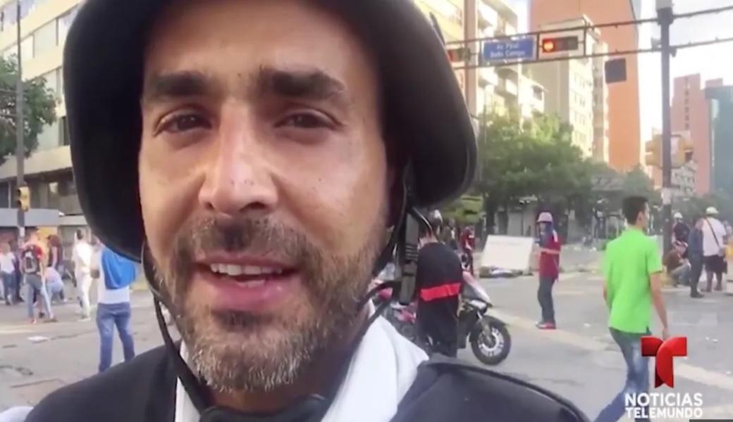 Liberan a reportero de Telemundo en Venezuela