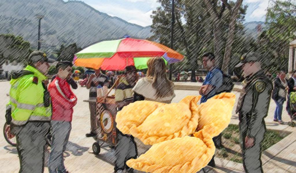 Policía no podrá multar por comprar empanadas en la calle