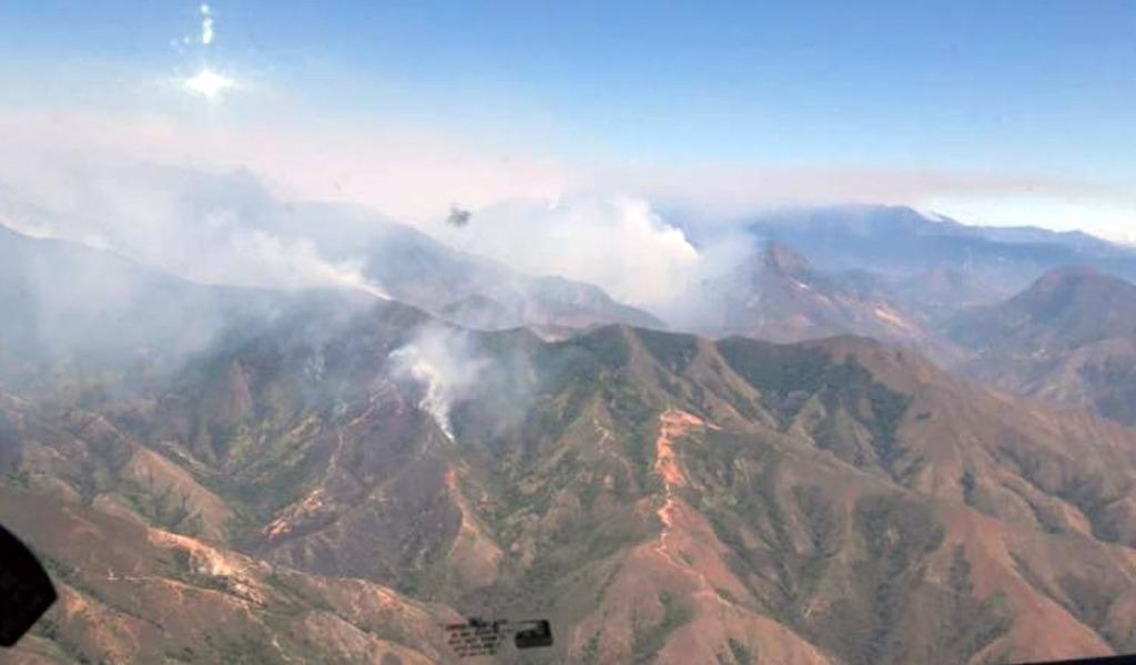 Autoridades atienden incendio en Sierra Nevada