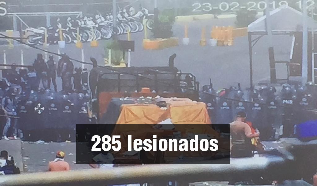 Los heridos tras la confrontación en la frontera