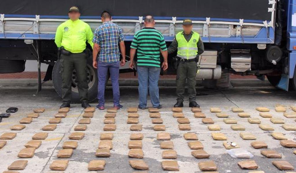 Policía logró incautar 8 toneladas de marihuana