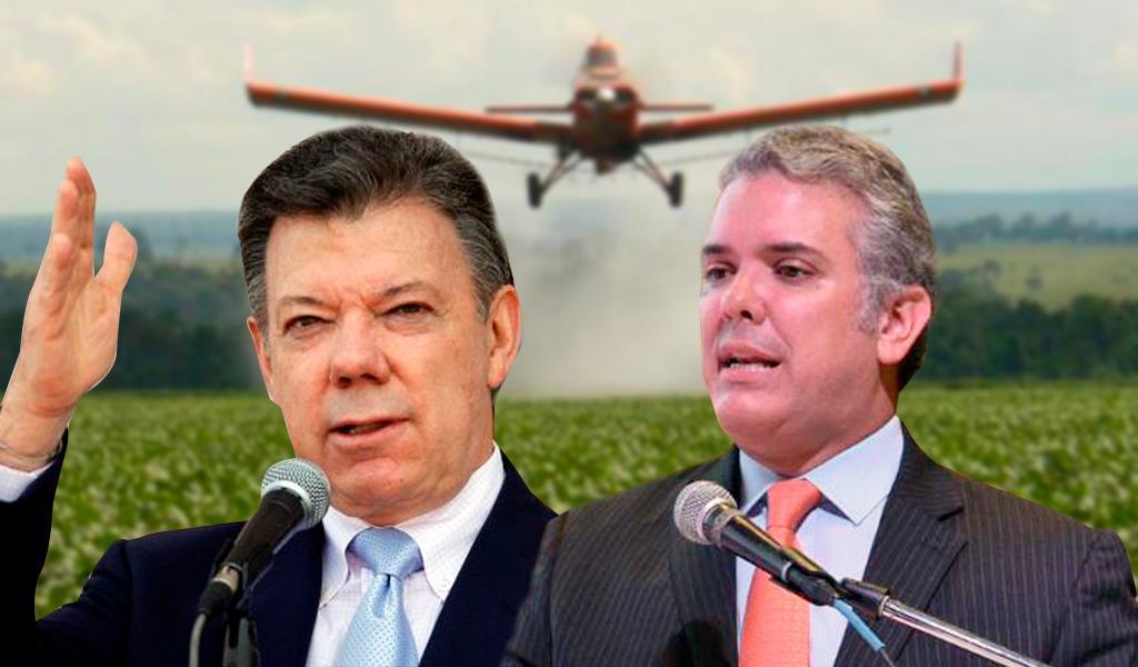 Glifosato, un tema pendiente entre Santos y Duque