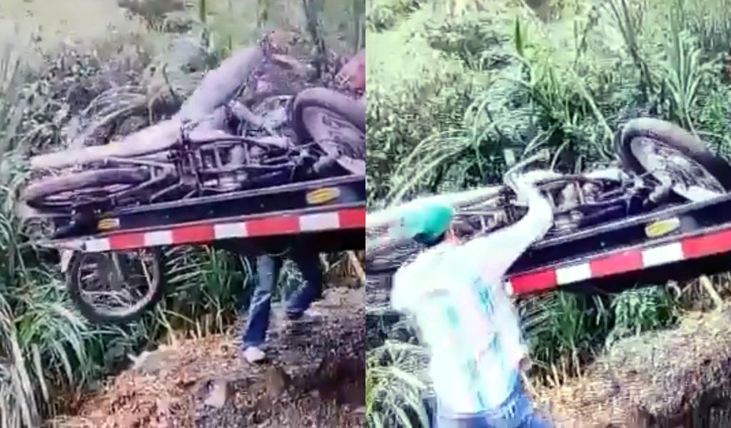 A las malas trasladan motos inmovilizadas en Sabaneta