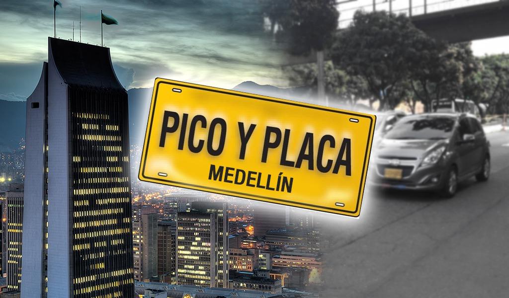 Este es el Pico y Placa para Medellín este 30 de marzo