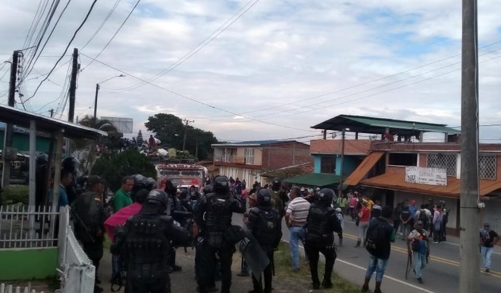 Indígenas mantienen su protesta en el Cauca