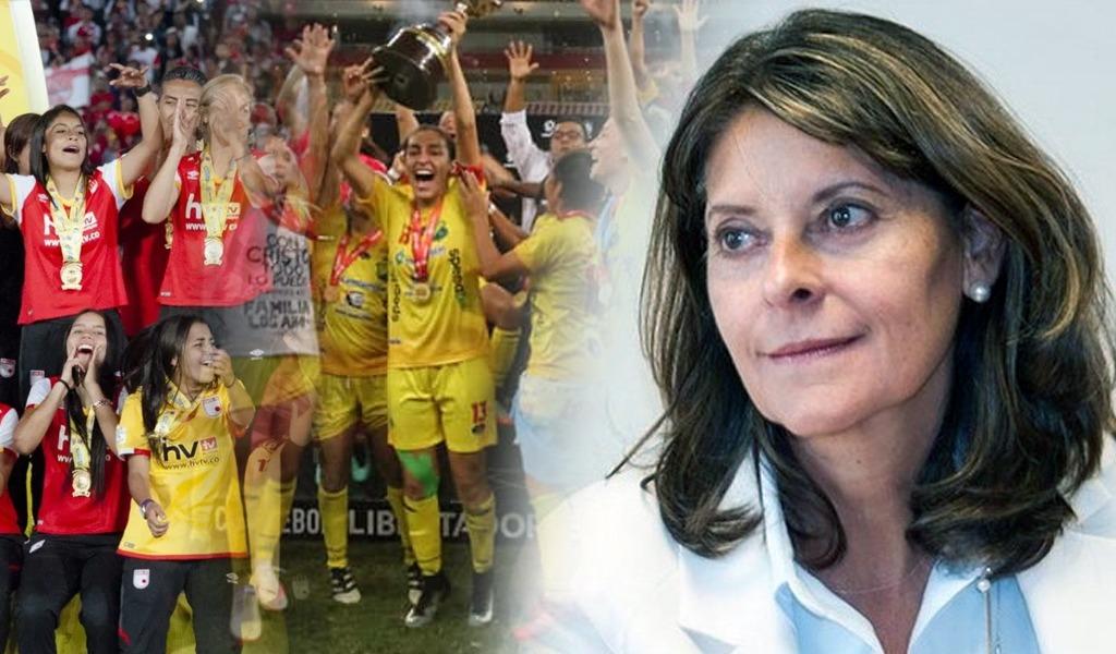 Vicepresidenta celebró continuidad de liga Femenina de fútbol