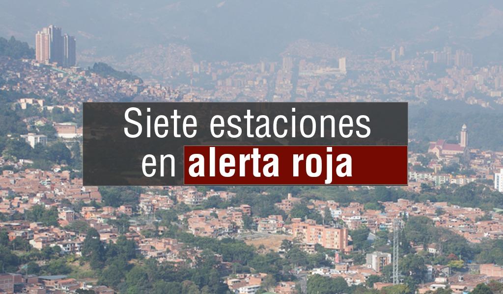 Alerta roja en el aire de Medelllín y Valle de Aburra