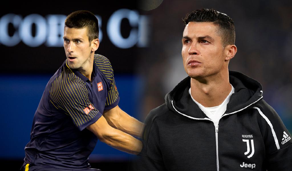 Novak Djokovic y Cristiano Ronaldo