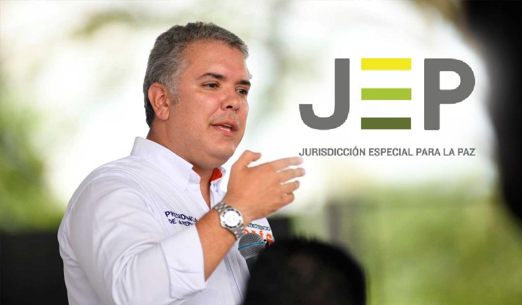 Iván Duque defendió sus objeciones a Ley Estatutaria JEP