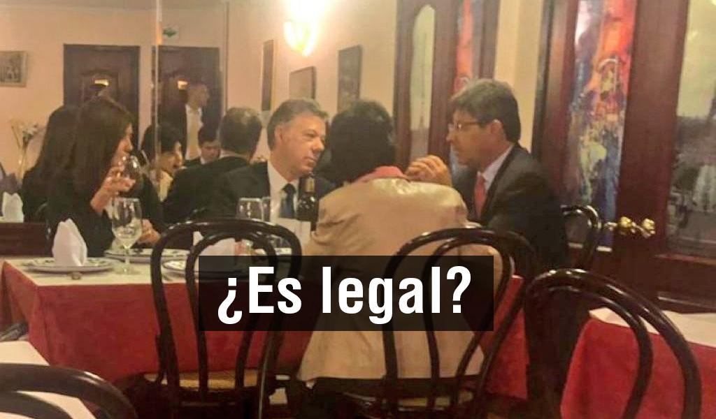 Juan Manuel Santos y magistrados