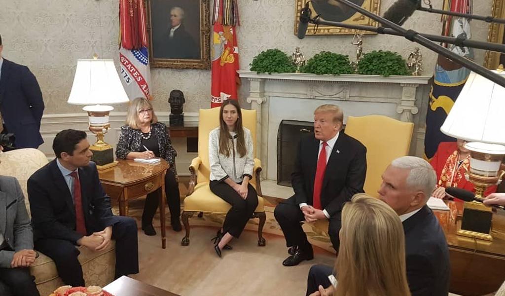 Esposa de Guaidó se reunió con Donald Trump