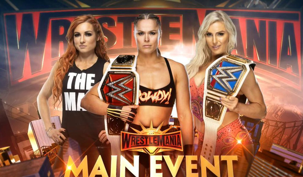 main event wwe ronda rousey charlotte flair y becky lynch