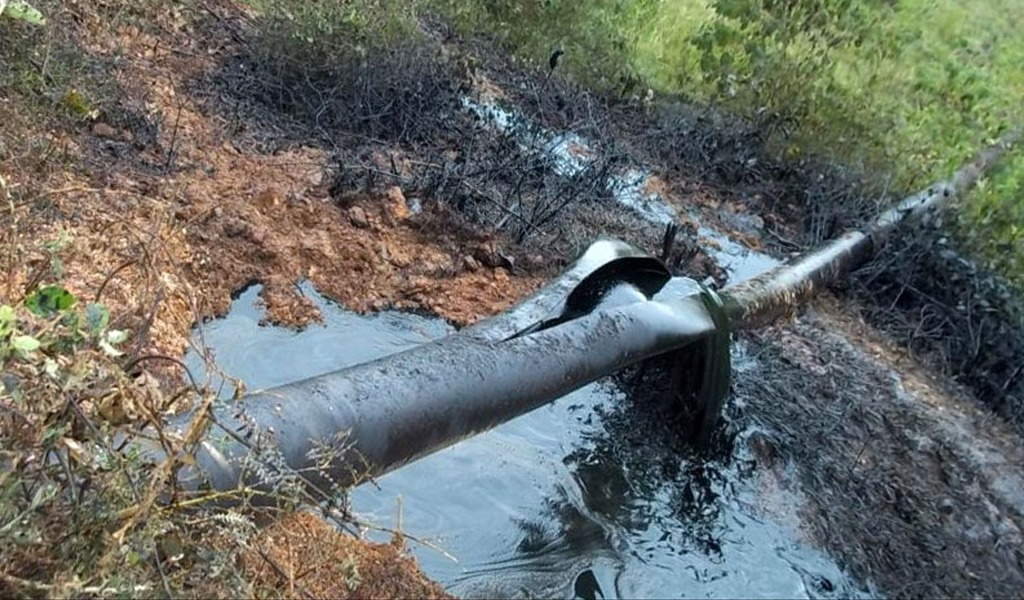 Nuevamente fue dinamitado el oleoducto Caño Limón-Coveñas