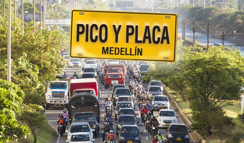 Este es el pico y placa de Medellín hoy