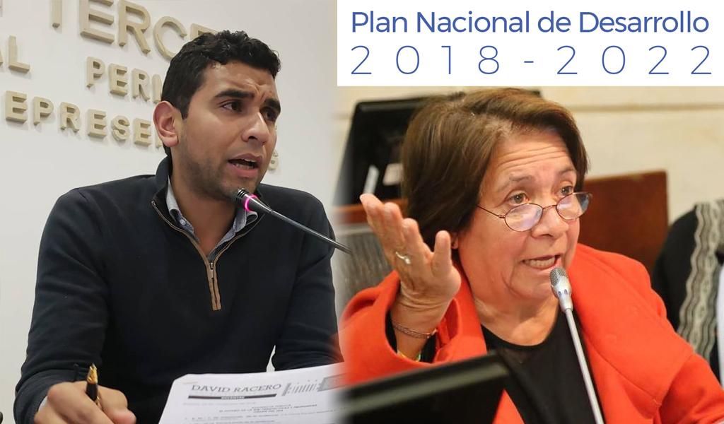 Oposición radica ponencia negativa al PND en Congreso