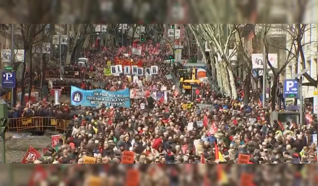 Protestas en Barcelona por partido político