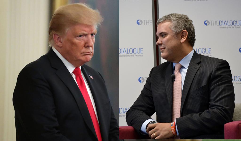 """""""Con Duque sale más droga de Colombia"""": Trump"""