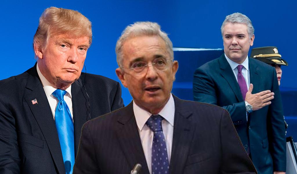 Trump, Duque y Uribe