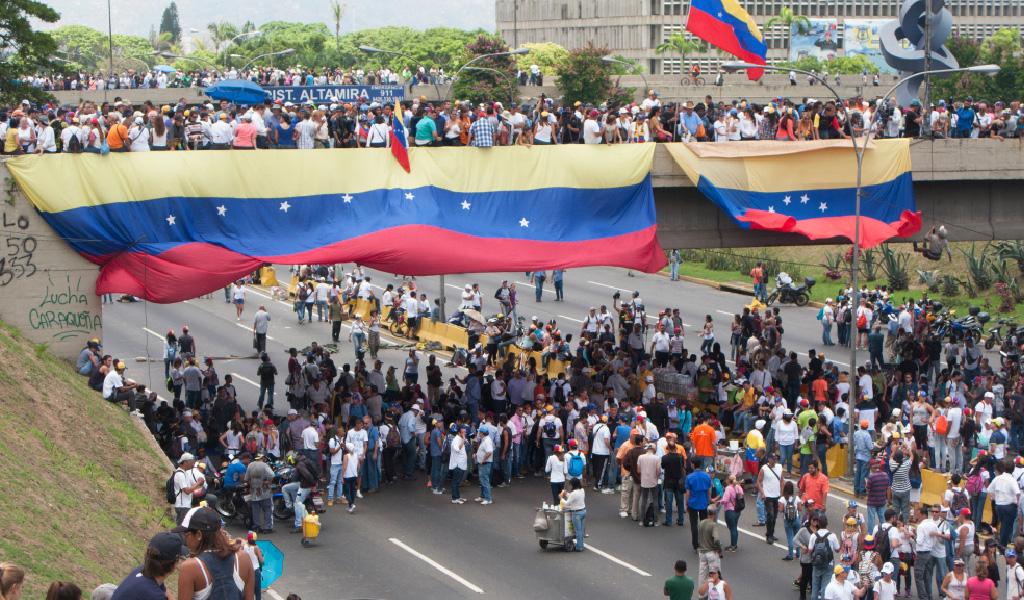 Marchas opositoras en Caracas, Venezuela