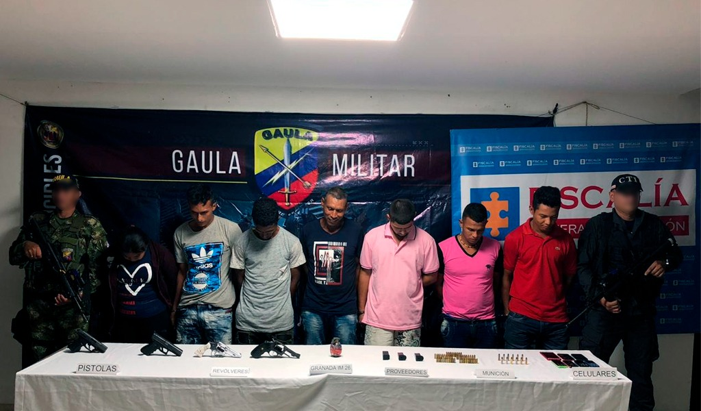 Capturados siete presuntos integrantes del Clan del Golfo