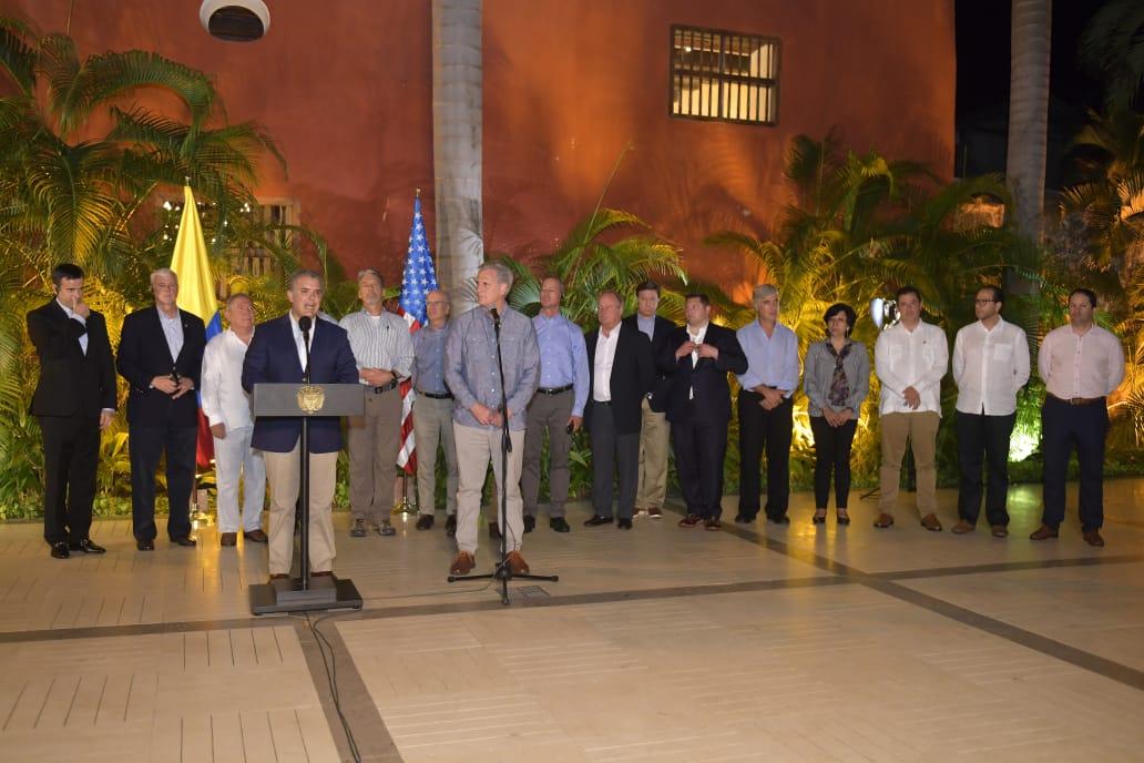 Duque agradeció apoyo de EE.UU en lucha contra drogas