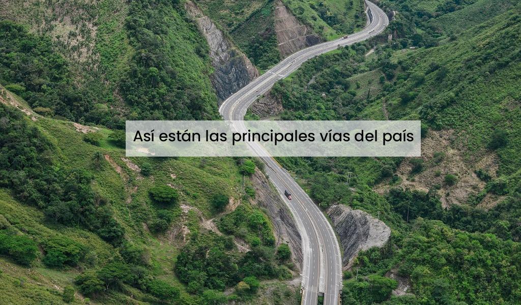 Este es el estado actual de las vías colombianas