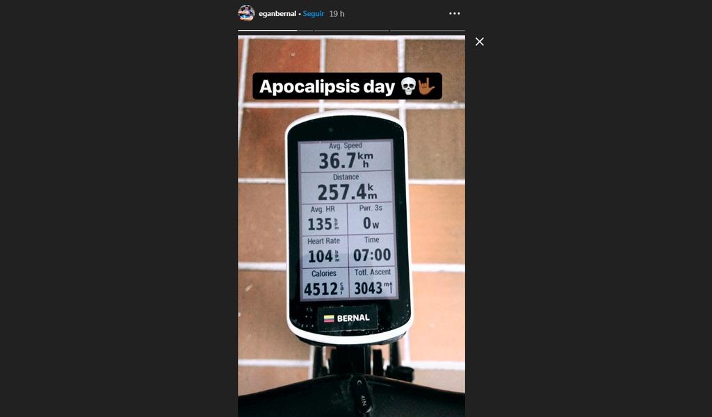 Egan Bernal Team Sky Giro de Italia Entrenamiento