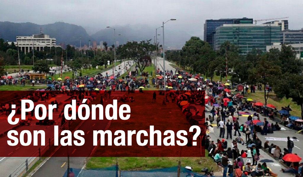Conozca las rutas de las marchas por los líderes sociales