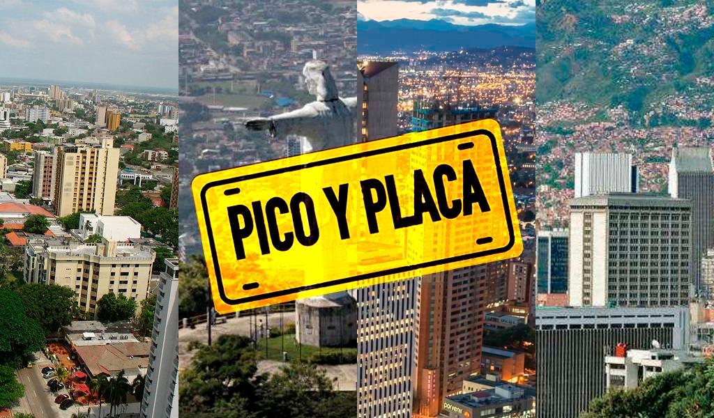 Este es el pico y placa en las principales ciudades del país