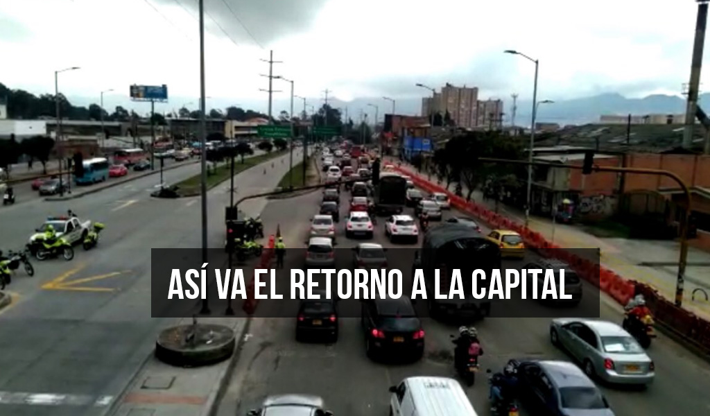 Ciudadanos reportan congestión vehicular entrando a Bogotá