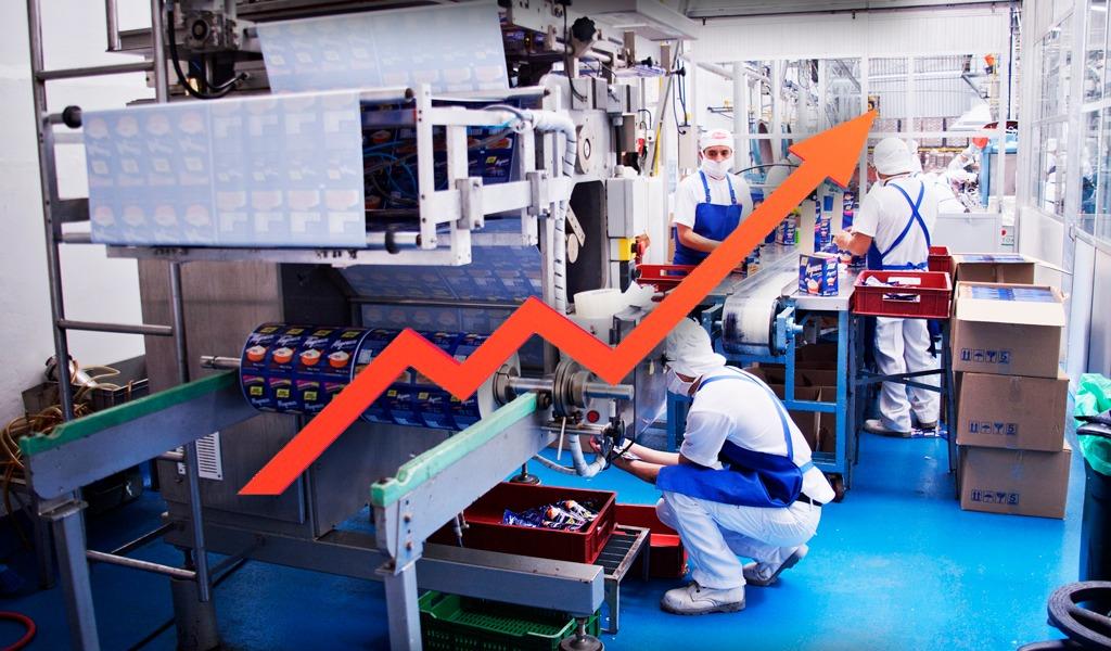 Producción industrial nacional tuvo un repunte